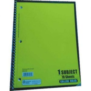 1 SUBJECT BOOK 70 SHTS