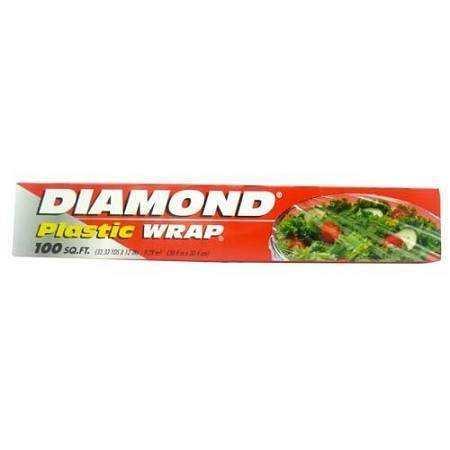DIAMOND PLASTIC WRAP 100SQ FT