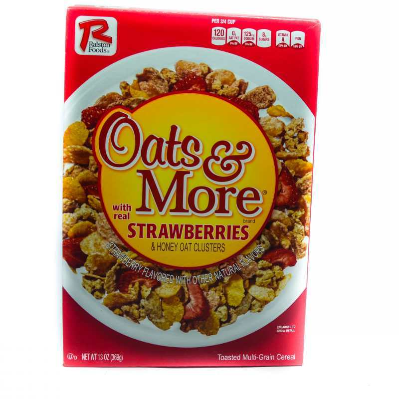 RALSTON FOODS OATS & MORE W/STRAWBERRIES 369G