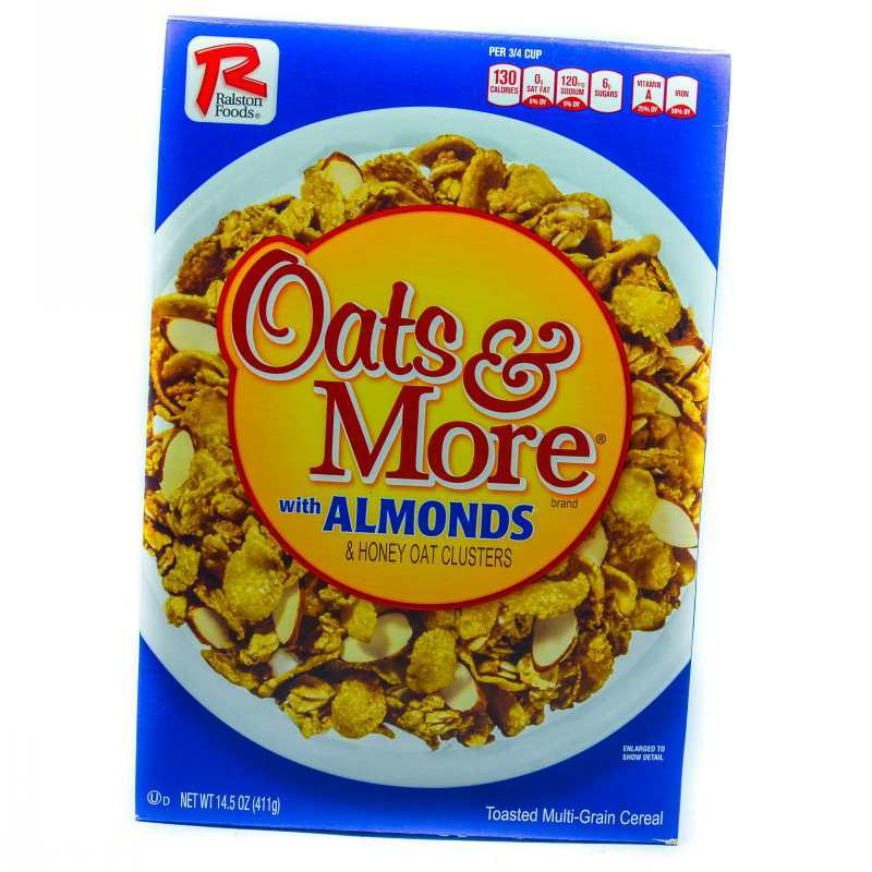 RALSTON FOODS OATS & MORE H/ALMOND 411G