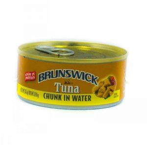 BRUNSWICK TUNA CHUNK IN WATER 170G/100G