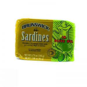 BRUNSWICK SARDINES IN OLIVE OIL 106G