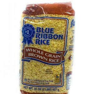 BLUE RIBBON WHOLE GRAIN BROWN RICE 907G (2LBS)