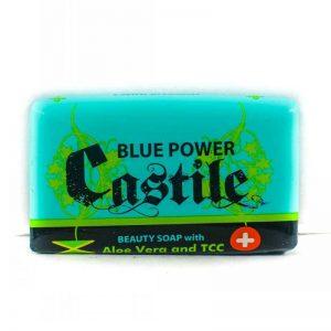 BLUE POWER CASTILE W/ALOE VERA & TCC 110G