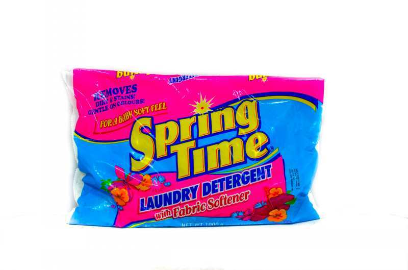 Spring Time L Detg With Fabric Softner 1000g Grocery