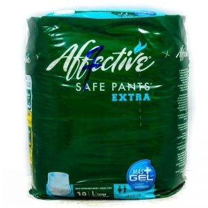 AFFECTIVE SAFE PANTS ADULT DISP. BRIEFS LGE 10'S