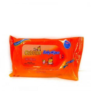 CUBBIES BABY WIPES TRAVEL PACK 10'S