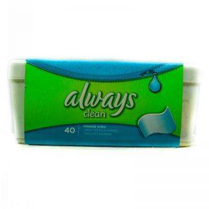 ALWAYS CLEAN FEMININE WIPES 40 WIPES