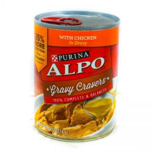 ALPO PRIME SLICES W/CHICKEN GRAVY 374G