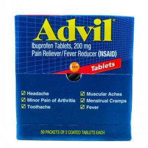 ADVIL IBUPROFEN TABLETS 50X2