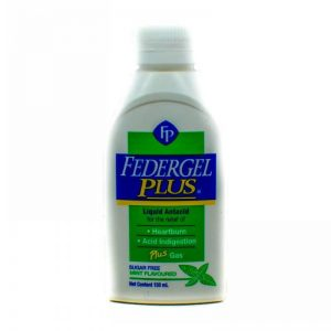 FEDERGEL PLUS LIQUID ANTACID 150ML