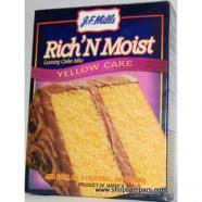 JF MILLS RICH N MOIST ASSRT CAKE MIX 500G