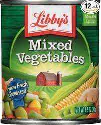 LIBBYS MIX VEGETABLES 241G