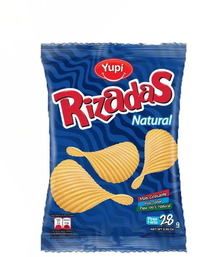 Yupi Rizadas Potato Chips Natural 28g Grocery
